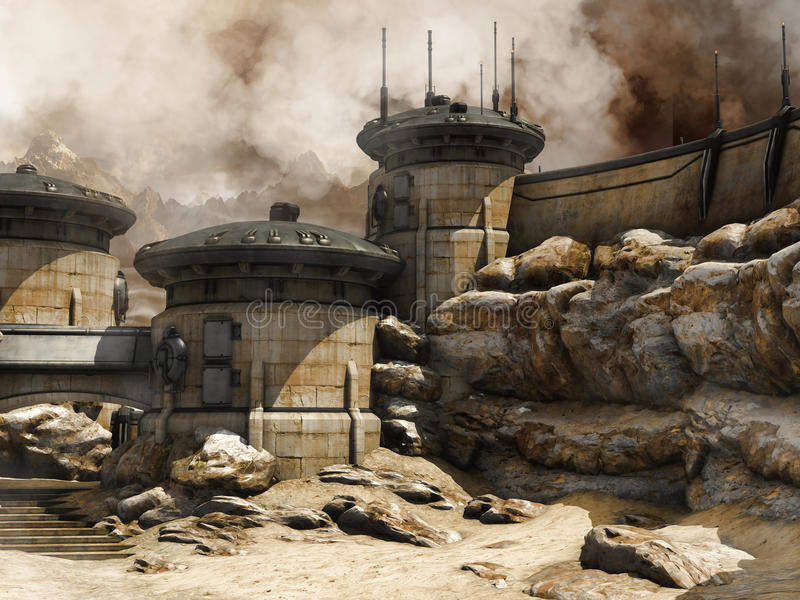 Costruzioni del deserto illustrazione vettoriale