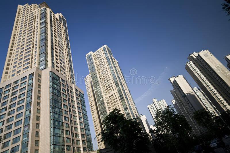 Costruzioni del grattacielo immagini stock libere da diritti