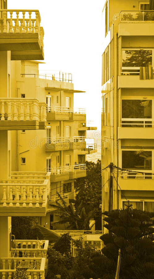 Costruzioni dell'hotel fotografia stock libera da diritti