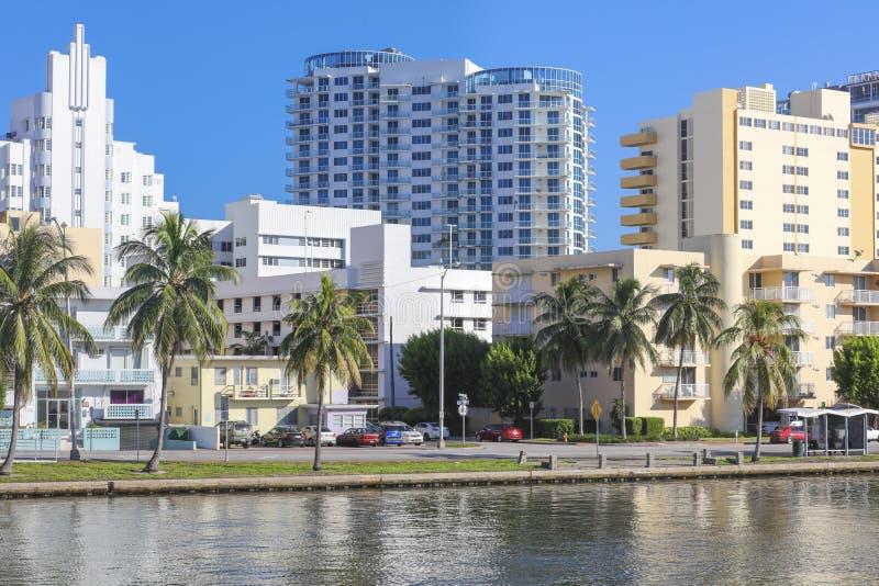 Costruzioni dell'hotel in Miami Beach, Florida immagini stock libere da diritti