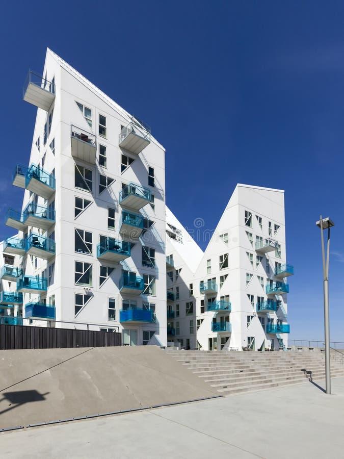 Costruzioni dell'iceberg a Aarhus, Danimarca fotografie stock libere da diritti