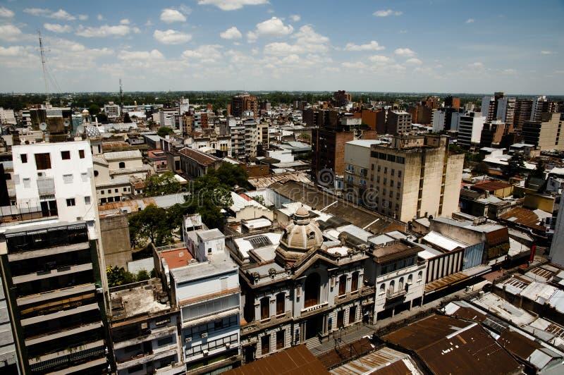 Costruzioni della città - Tucuman - Argentina fotografia stock