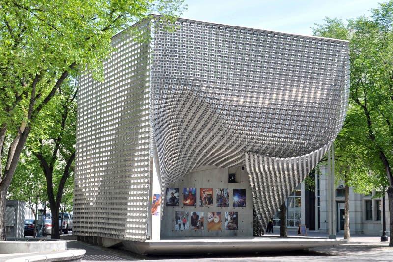 Costruzioni dentro in città, Winnipeg fotografia stock libera da diritti