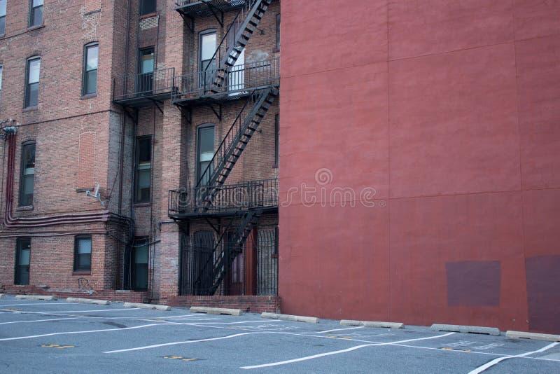 Costruzioni di appartamento di Baltimora fotografia stock