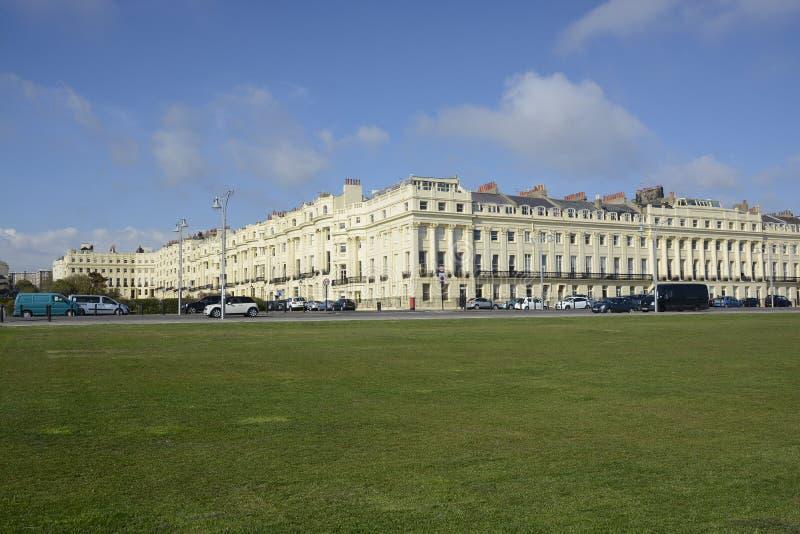Costruzioni di appartamento a Brighton l'inghilterra immagini stock libere da diritti