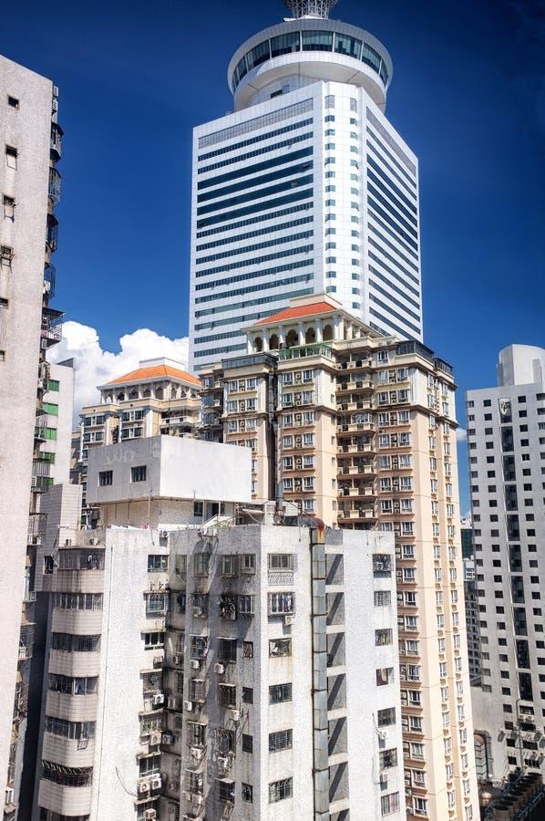 Costruzioni di appartamento di Shenzhen Cina soleggiate immagini stock libere da diritti