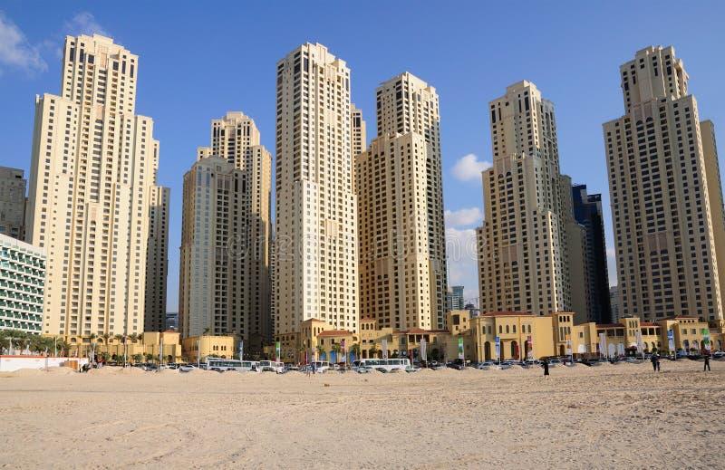 Costruzioni di Highrise in Doubai fotografia stock libera da diritti