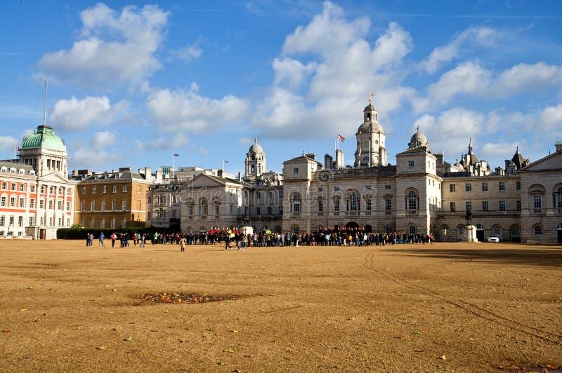 Costruzioni di parata delle guardie di cavallo, Londra, Regno Unito fotografie stock libere da diritti