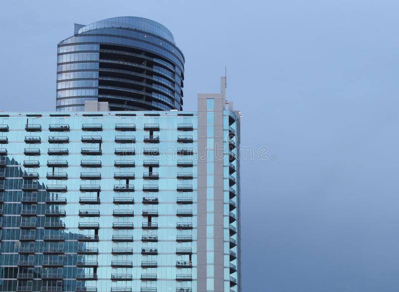Costruzioni di vetro in Buckhead, Atlanta Georgia fotografie stock libere da diritti