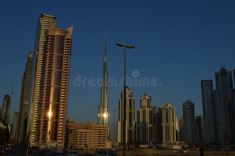 Costruzioni in Dubai immagine stock