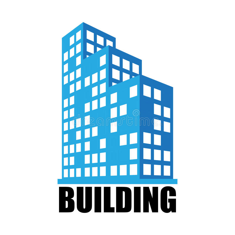 Costruzioni ed icona dell'ufficio illustrazione vettoriale