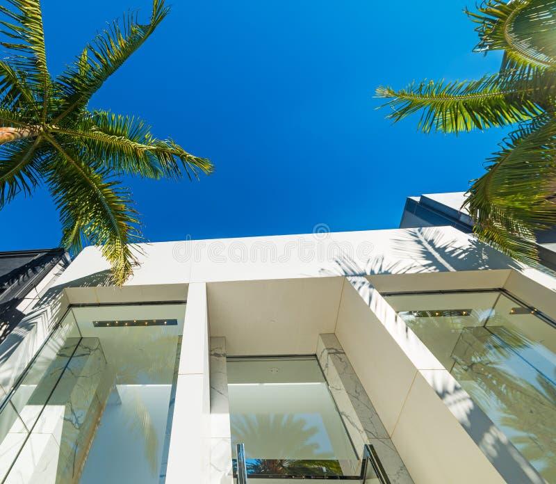 Costruzioni eleganti in Beverly Hills fotografie stock libere da diritti
