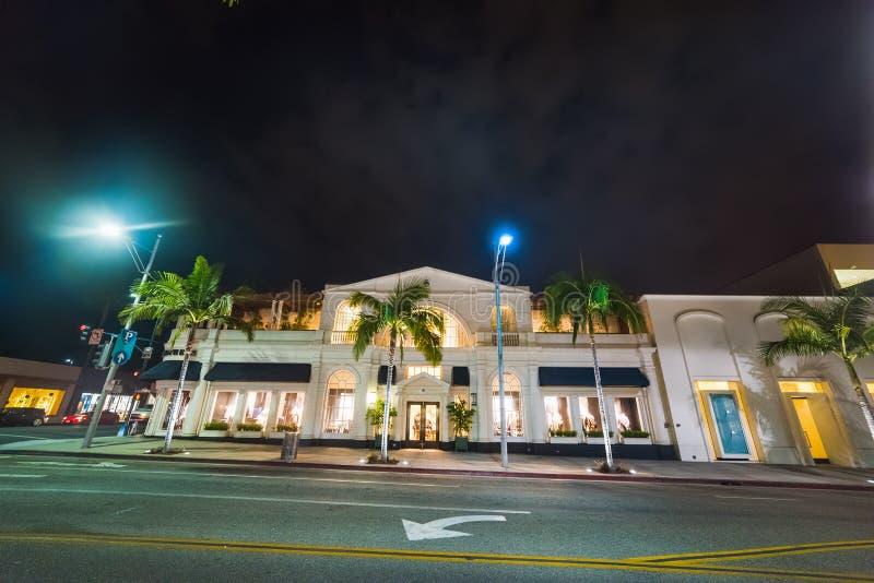 Costruzioni eleganti in Rodeo Drive fotografia stock
