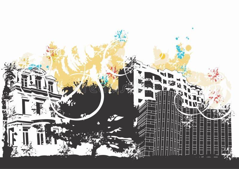 Costruzioni Grungy illustrazione di stock