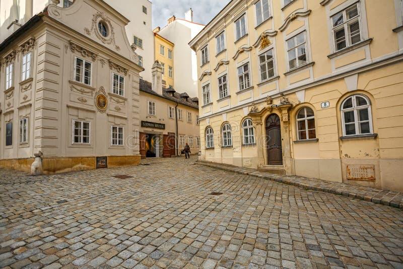 Costruzioni medievali del secolo 18 e 19 Vienna, Austria immagine stock