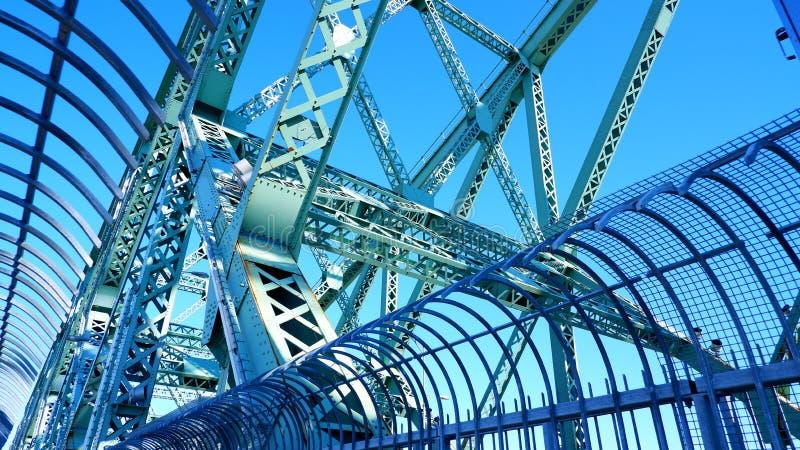 Costruzioni metalliche di Jacques Cartier Bridge fotografia stock libera da diritti