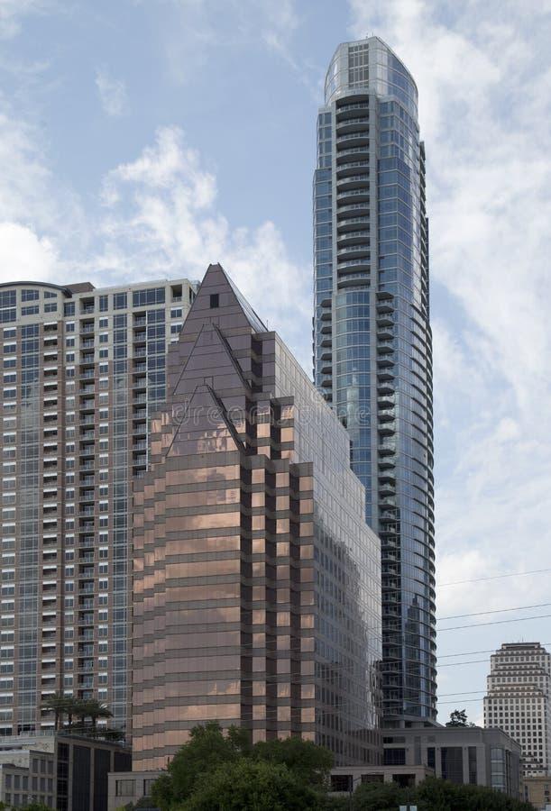 Costruzioni moderne in Austin del centro immagini stock