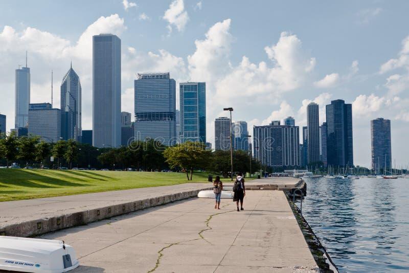 Costruzioni moderne Chicago della torretta immagine stock libera da diritti