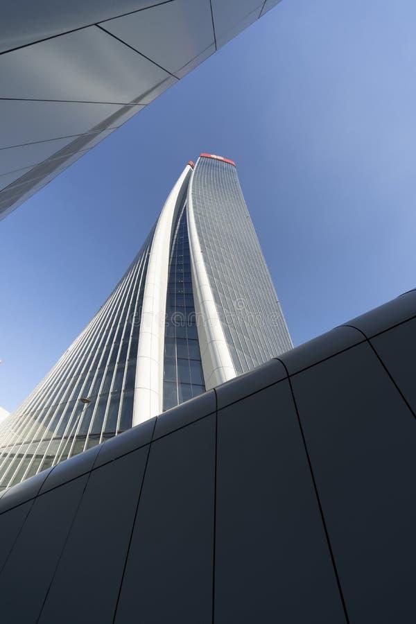 Costruzioni moderne a Citylife, Milano fotografia stock
