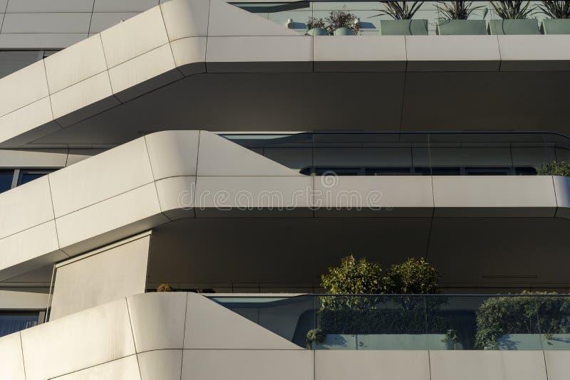 Costruzioni moderne a Citylife, Milano immagini stock libere da diritti