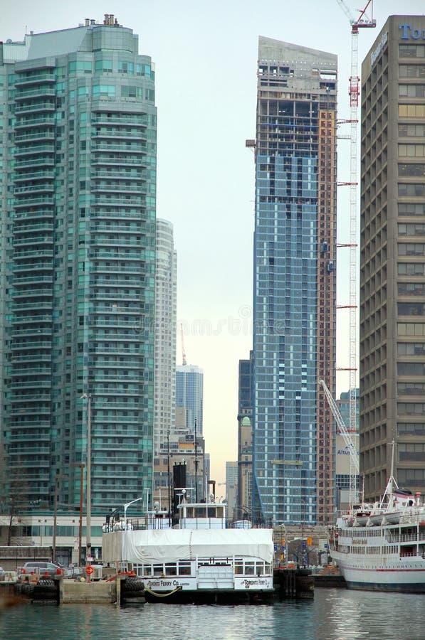 Costruzioni moderne del centro di Toronto immagini stock