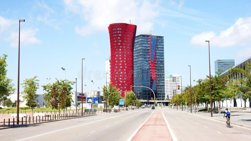 Costruzioni moderne in Hospitalet de Llobregat fotografie stock