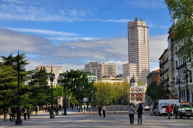 Orizzonte di Madrid, Spagna fotografia stock