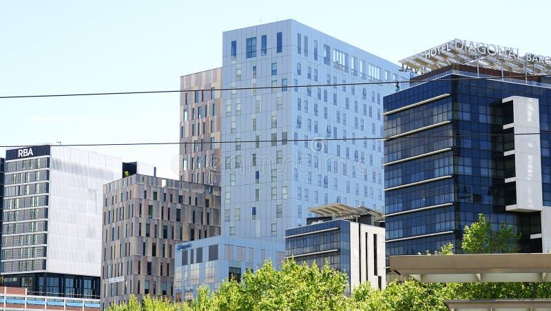 Costruzioni moderne in marzo diagonale immagini stock libere da diritti