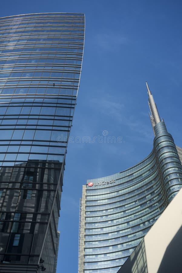 Costruzioni moderne a Milano fotografia stock libera da diritti