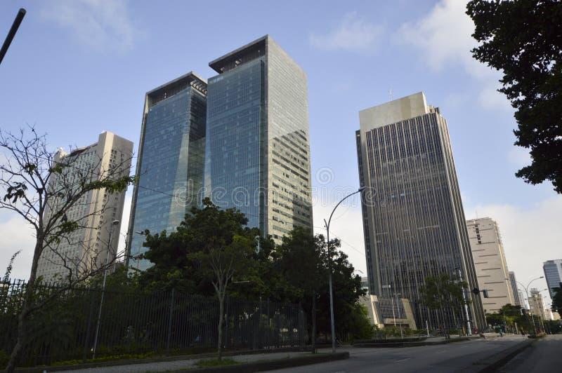 costruzioni moderne nel centro della citt? di Rio de Janeiro fotografie stock libere da diritti