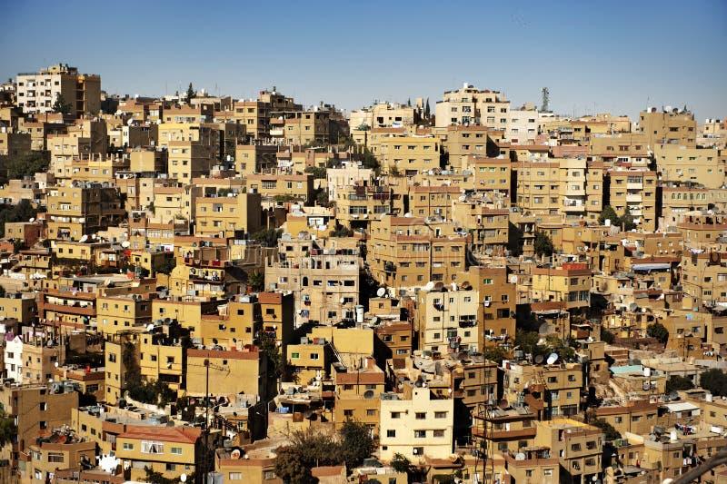 Costruzioni nella città di Amman, Giordano fotografia stock
