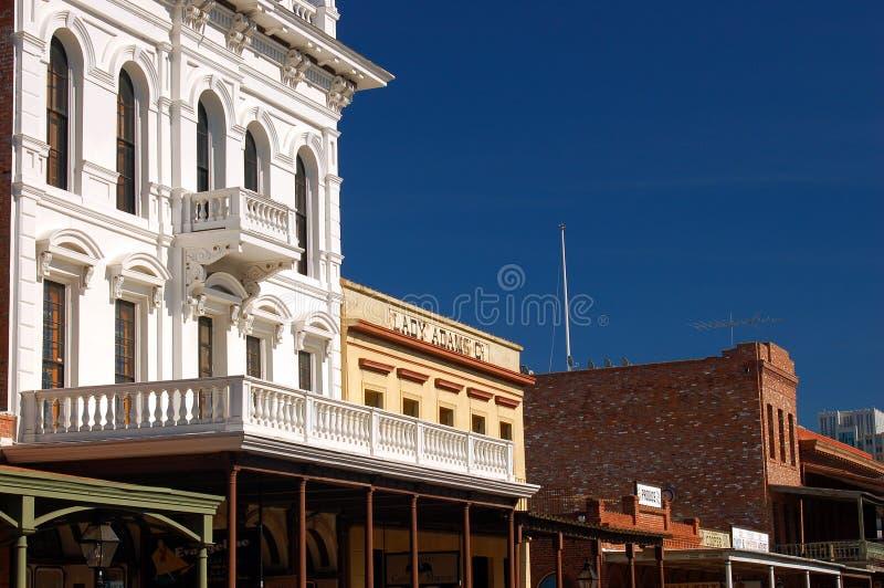 Costruzioni occidentali di stile di frontiera immagine stock