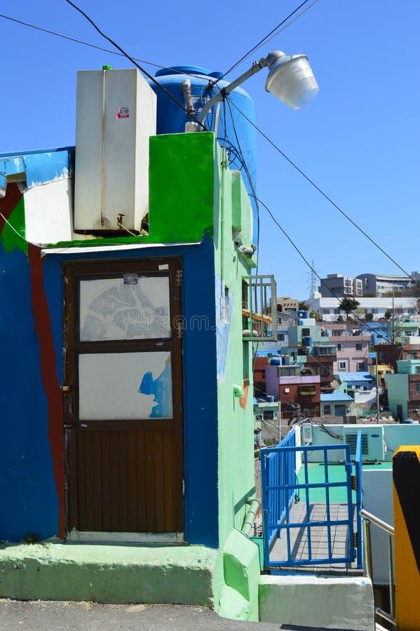 Costruzioni originali a Pusan, Corea del Sud immagini stock libere da diritti
