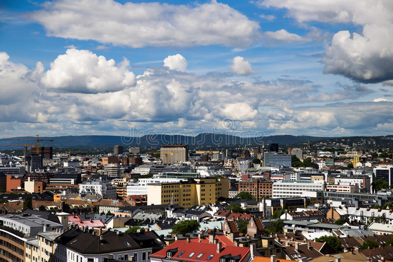 Costruzioni a Oslo del centro 3 immagini stock