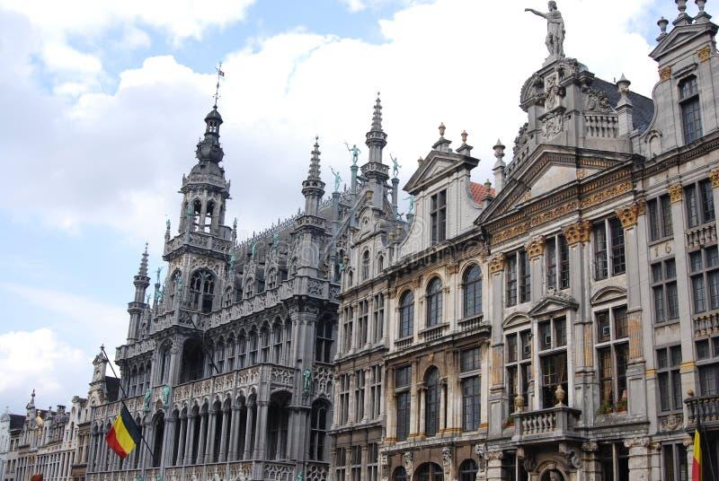 Costruzioni storiche a Bruxelles fotografie stock libere da diritti