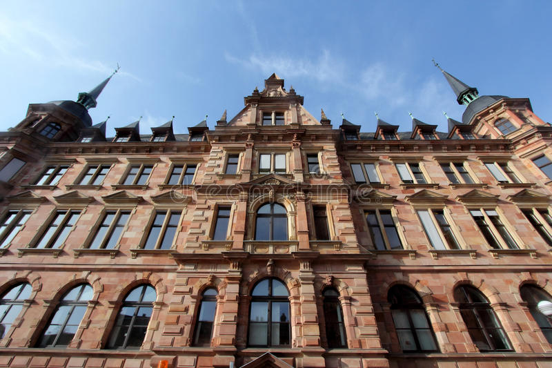 Costruzioni storiche di Wiesbaden, Germania immagini stock libere da diritti