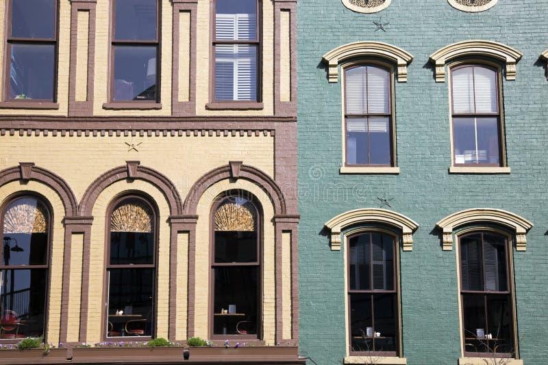 Costruzioni storiche a Lexington fotografia stock libera da diritti