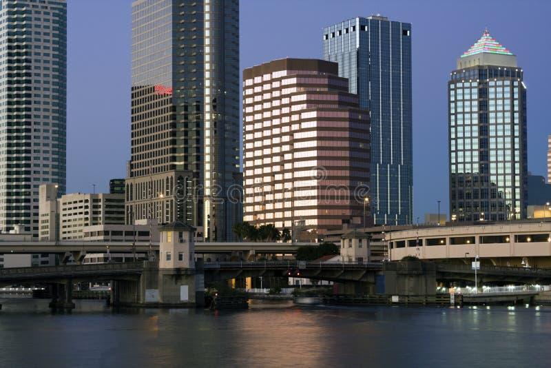 Costruzioni a Tampa del centro immagine stock libera da diritti