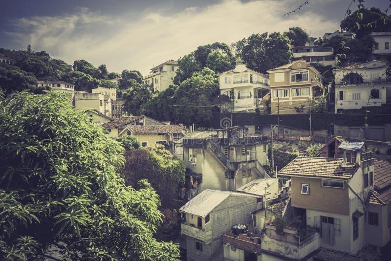 Costruzioni tipiche nella parte anziana di Rio de Janeiro fotografia stock