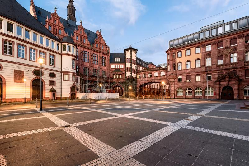 Costruzioni tradizionali Francoforte fotografia stock libera da diritti