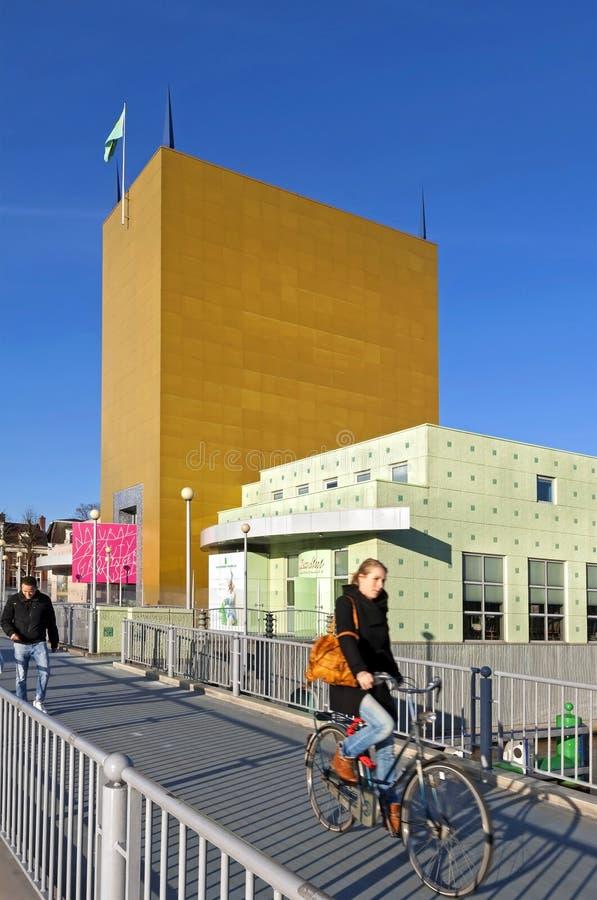 Costruzioni variopinte del museo di Groninger fotografia stock