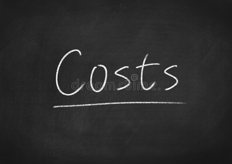 Costs royalty free stock photography