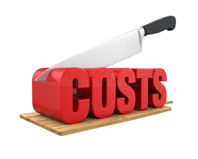 Costs Cuts Concept stock illustration