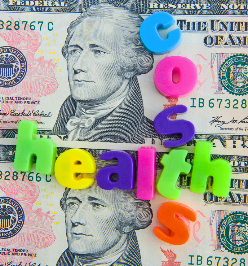 Costs Of Health Care In The USA. Royalty Free Stock Photo