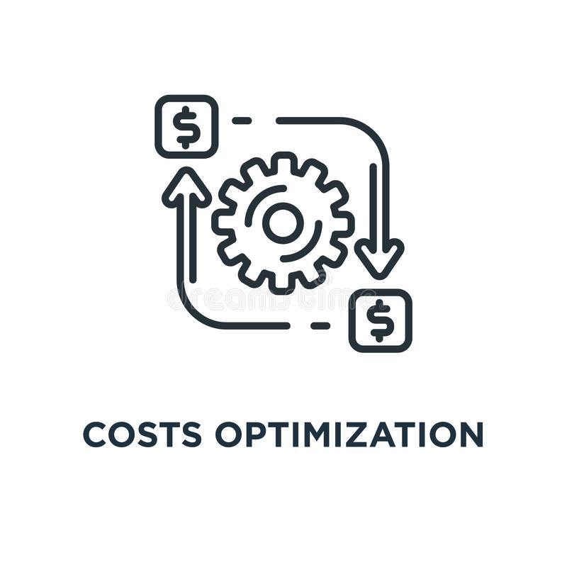 Costs optimization icon. efficiency concept symbol design, vecto. R illustration royalty free illustration