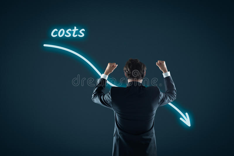 Costs reduction stock images