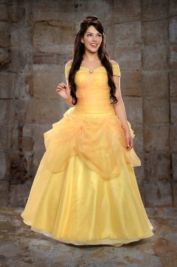 Costume公主的少妇 免版税图库摄影