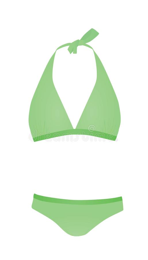 Costume de bain vert illustration de vecteur