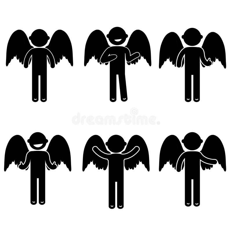 Costume de base d'habillement de signe d'icône de personnes de posture d'homme image stock