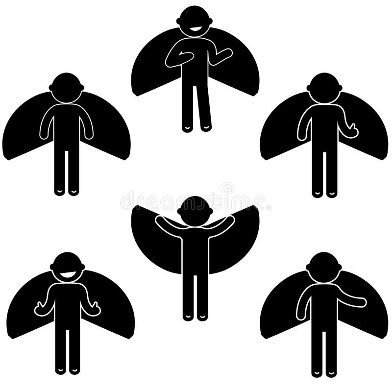 Costume de base d'habillement de signe d'icône de personnes de posture d'homme photographie stock